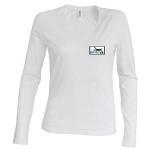 T-Shirt manches longues femme - Ref. 1004 - 100% coton - taille S à XL - 15,00 €